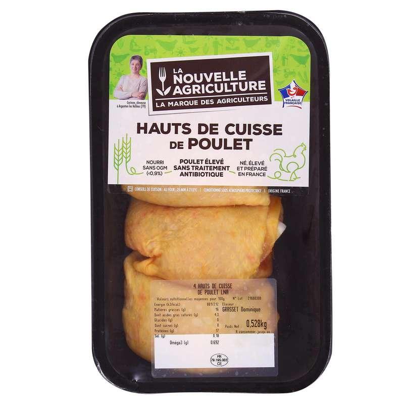 Hauts de cuisse de poulet fermier, La Nouvelle Agriculture (x 3, 350 - 400 g)