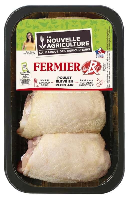 Hauts de cuisse de poulet fermier, La Nouvelle Agriculture (x 3, 600 - 650 g)