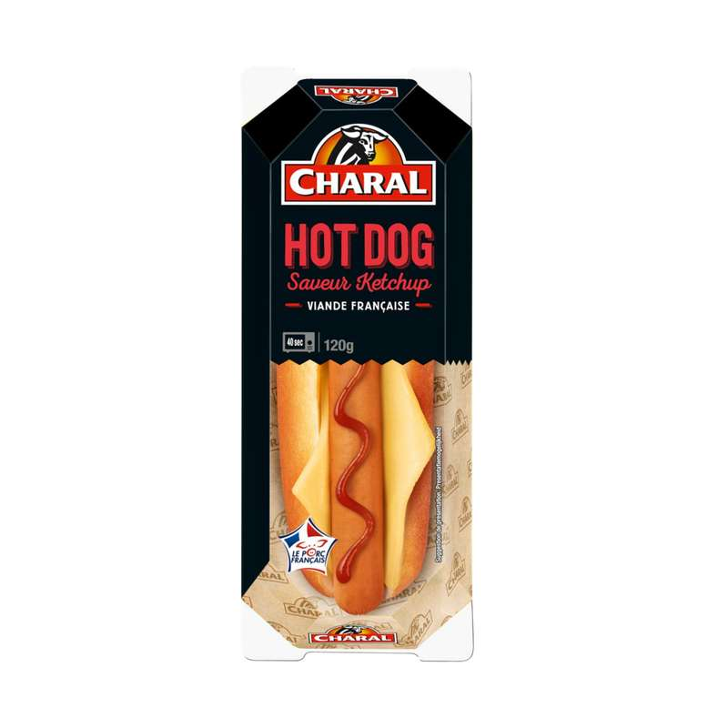 Hot dog au ketchup, Charal (120 g)