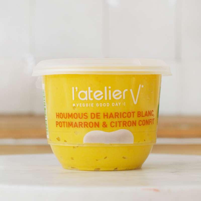 Houmous d'haricot blanc, potimarron et citron confit BIO, L'Atelier V (150 g)