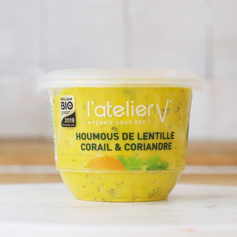 Houmous de lentille corail, patate douce et coriandre BIO, L'Atelier V (150 g)