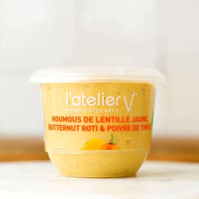 Houmous de lentille jaune, butternut rôti et poivre du Timut BIO, L'Atelier V (150 g)