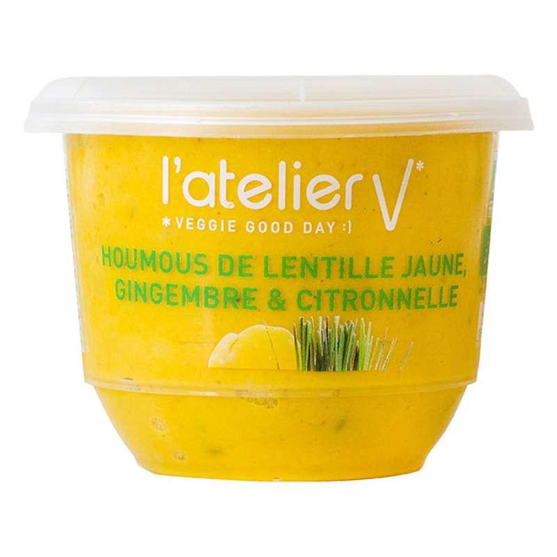 Houmous de lentille jaune, gingembre et citronnelle BIO, L'Atelier V (150 g)