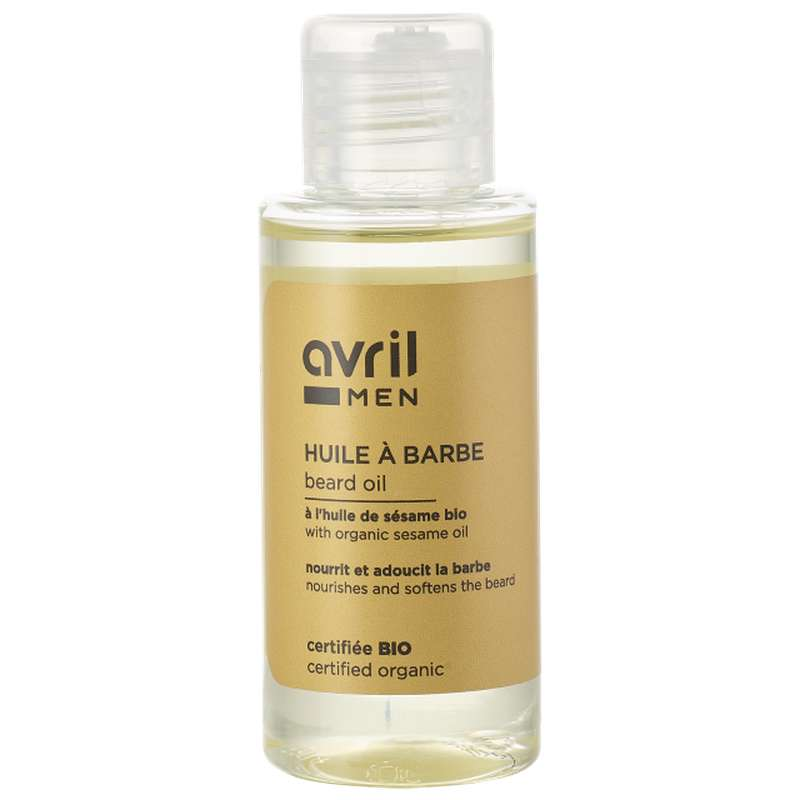 Huile à barbe certifiée BIO, Avril MEN (50 ml)