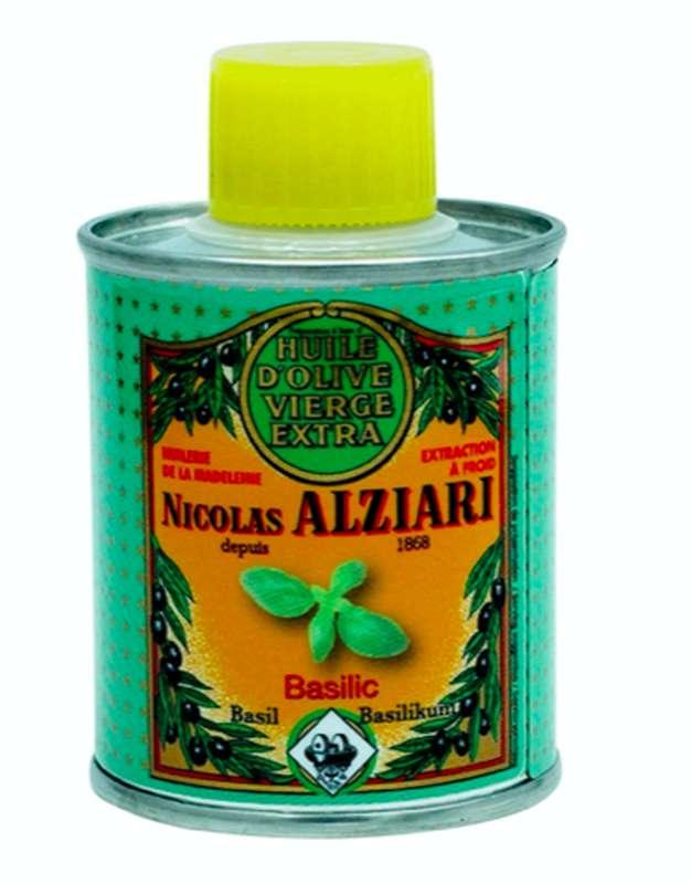 Huile d'olive à l'arôme naturel de basilic, Nicolas Alziari (100 ml)