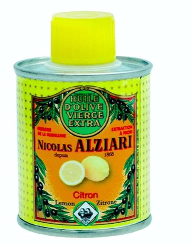 Huile d'olive à l'arôme naturel de citron, Nicolas Alziari (100 ml)