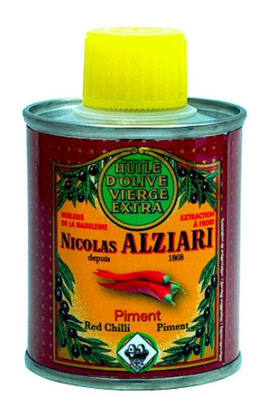 Huile d'olive à l'arôme naturel de piment, Nicolas Alziari (100 ml)