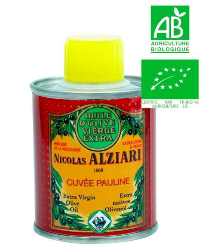 Huile d'olive cuvée Pauline BIO, Nicolas Alziari (100 ml)