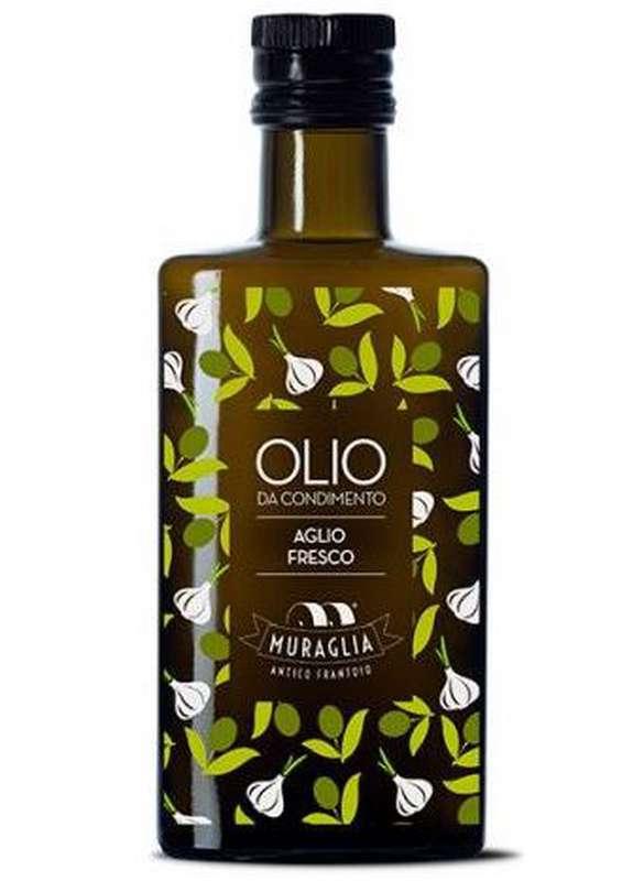 Huile d'olive extra vierge à l'ail, Muraglia (20 cl)