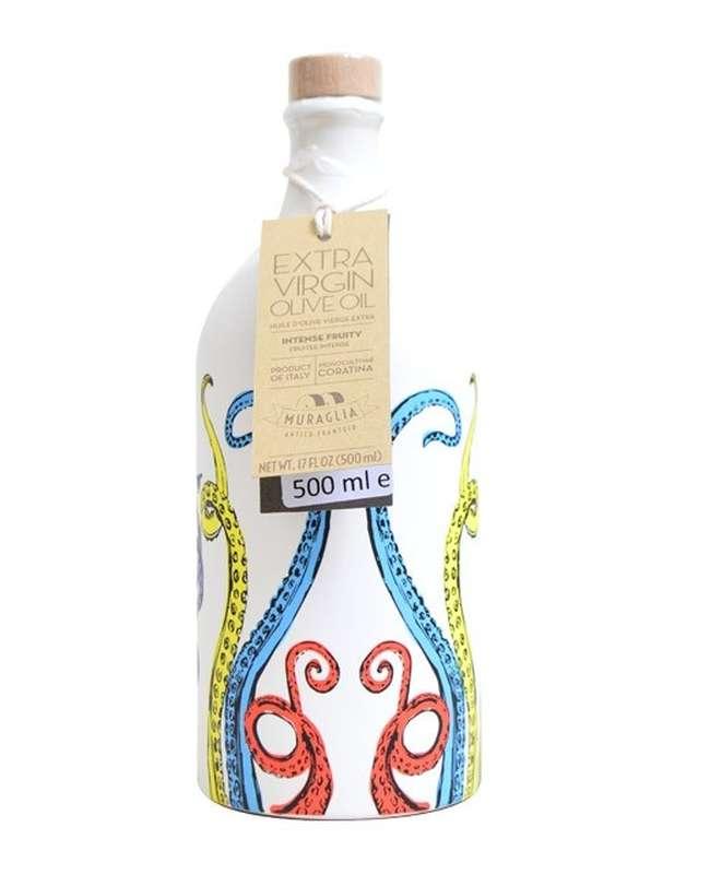 """Huile d'olive extra vierge """"tentacule"""", Muraglia (50 cl)"""