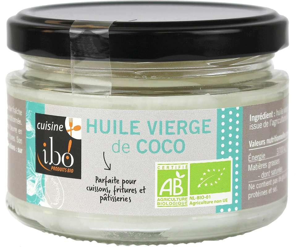 Huile de coco vierge BIO, Ibo (200 g)