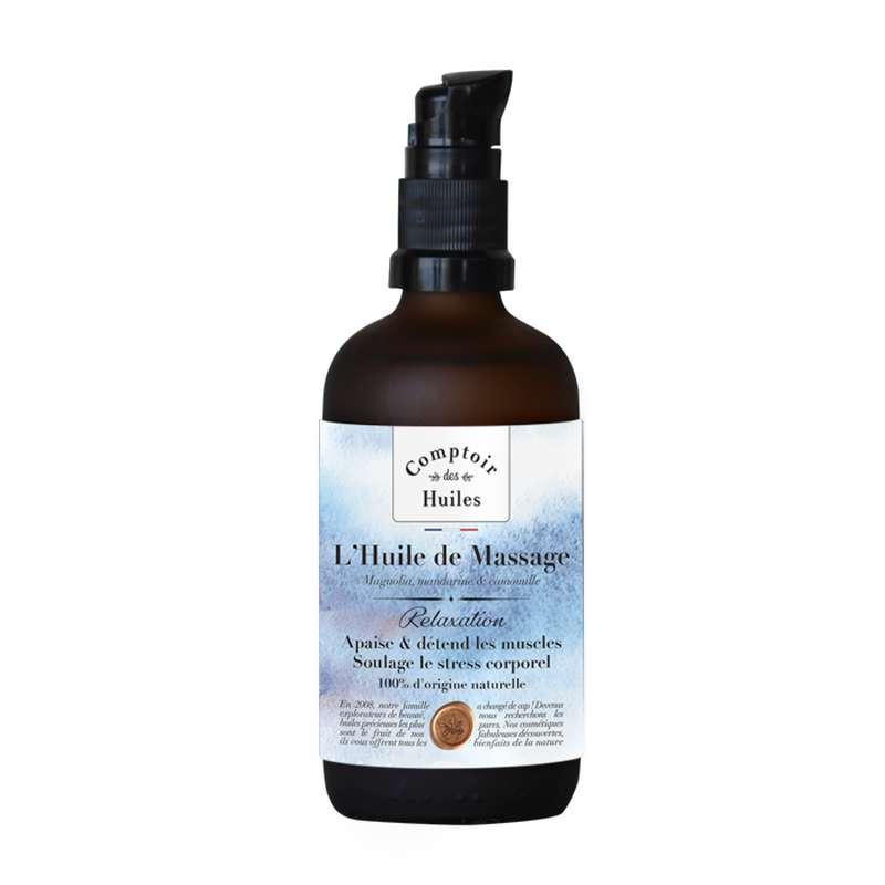Huile de massage Relaxation BIO, Comptoir des Huiles (100 ml)