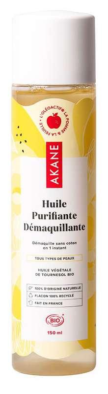 Huile démaquillante purifiante BIO, Akane (150 ml)