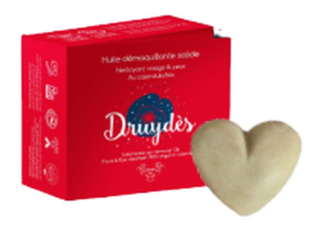 Huile démaquillante solide BIO, Druydès (30 ml)