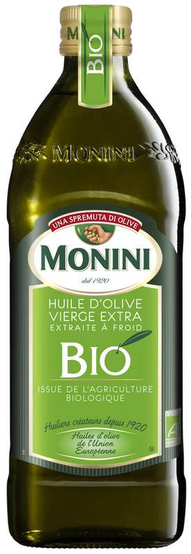 Huile d'olive vierge extra BIO, Monini (75 cl)