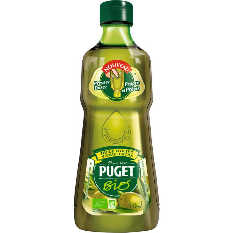 Huile d'olive vierge extra BIO, Puget (475 ml)