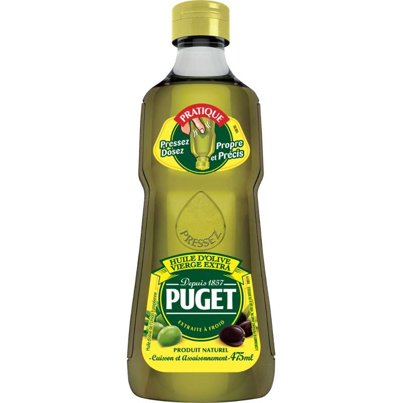 Huile d'olive vierge extra flacon squeeze, Puget (475 ml)