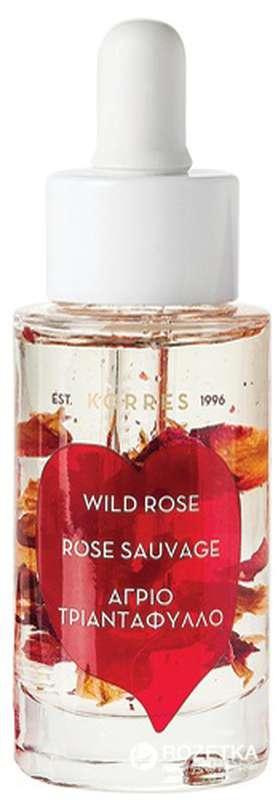 Huile visage éclat intense & nourrissante Rose Sauvage, Korres (30 ml)