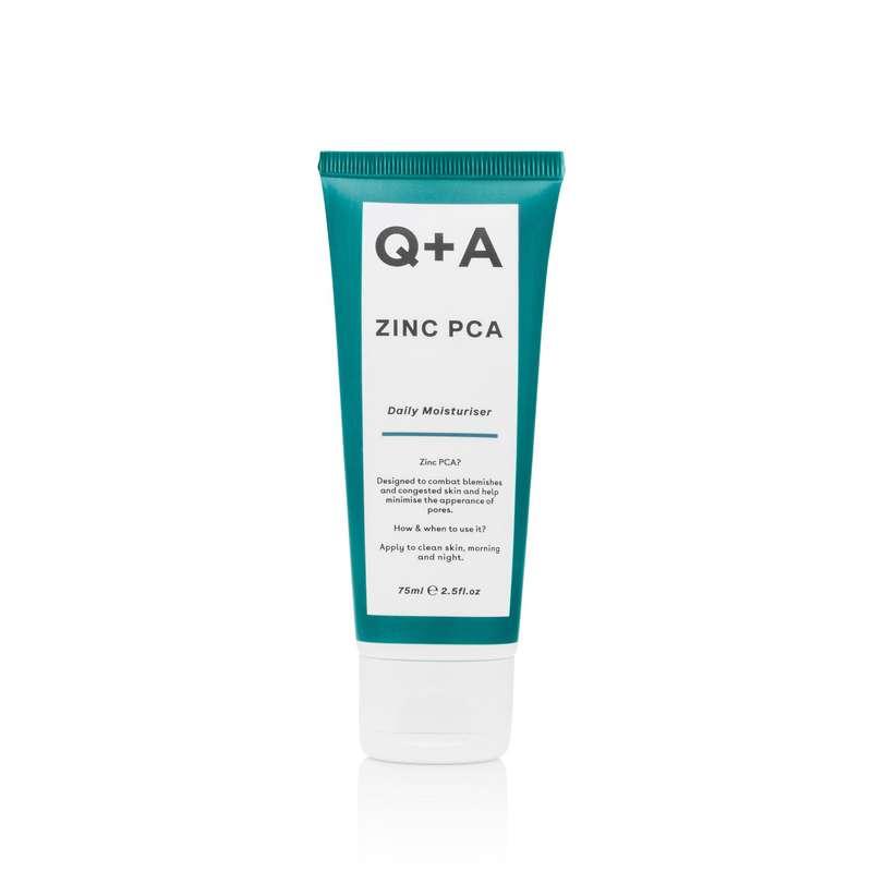 Hydratant quotidien pour le visage au zinc, Q+A (75 ml)
