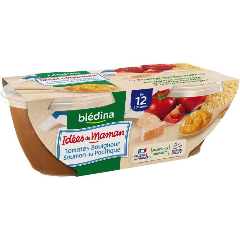 Bols tomates, boulghour et saumon Idées de maman - dès 12 mois, Blédina (2 x 200 g)