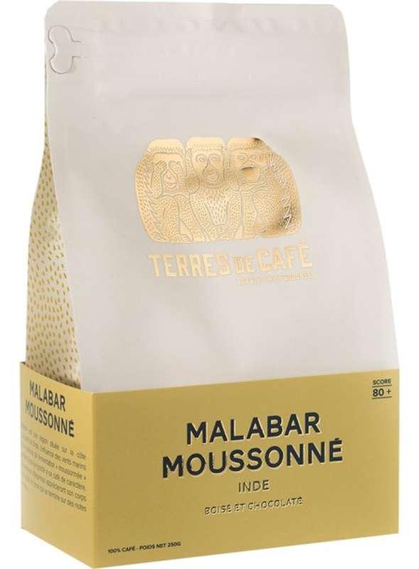 Café moulu Inde Malabar moussonné, Terres de café (250 g)