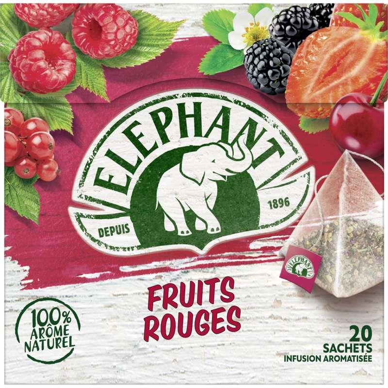 Infusion aux fruits rouges, Elephant (25 sachets)