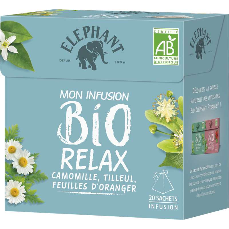 Infusion relax BIO, Elephant (20 sachets)