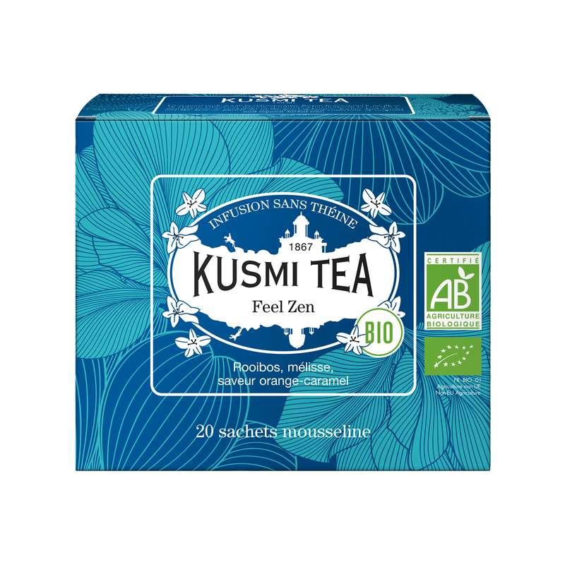 Infusion Feel Zen BIO - étui sachets mousseline, Kusmi Tea (x 20, 40 g)