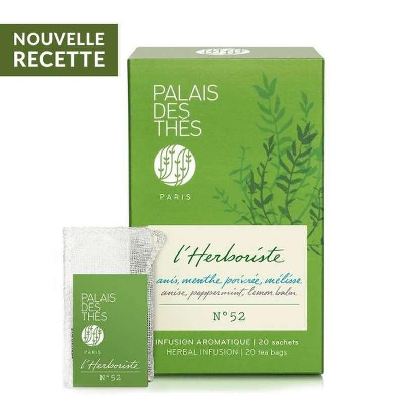 Infusion L'herboriste n°52 anis, menthe poivrée, mélisse BIO, Palais des Thés (x 20)