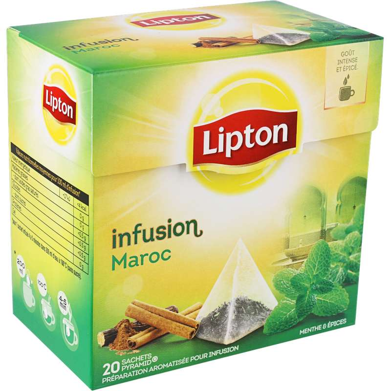 Infusion Maroc menthe et épices, Lipton (20 sachets)