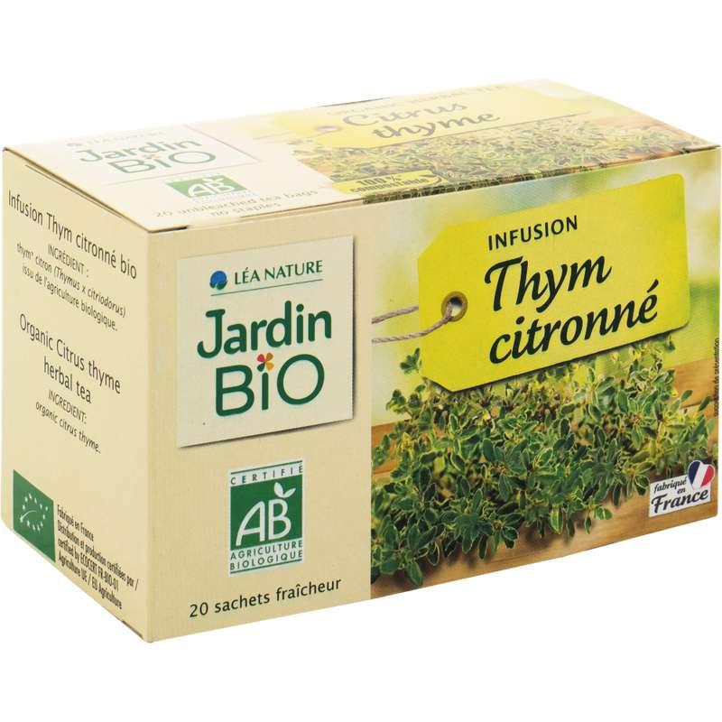Infusion thym citronné BIO, Jardin Bio (20 sachets)