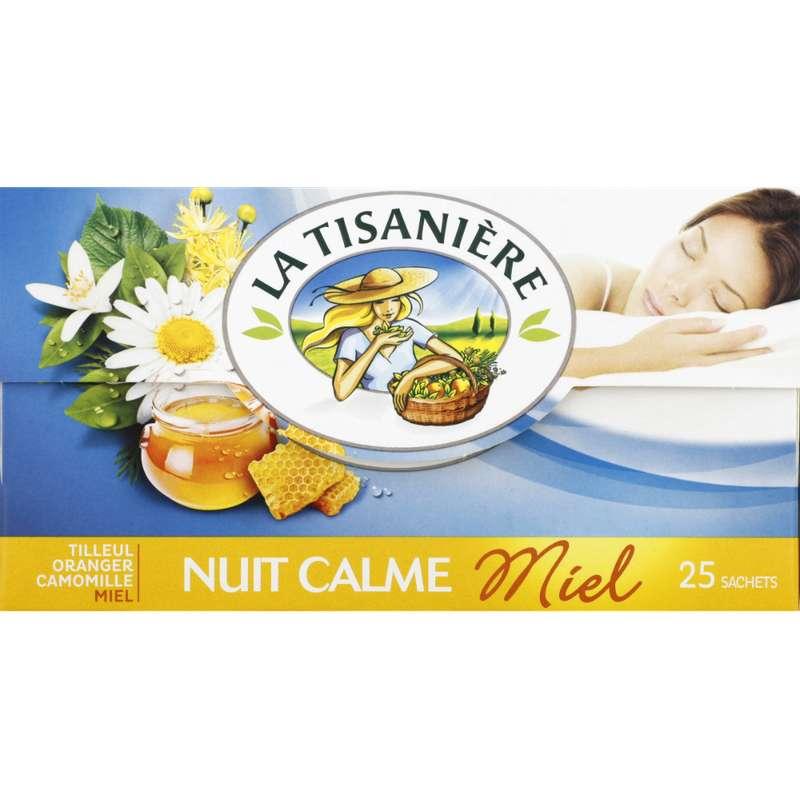 Infusions Bien Etre nuit calme au miel, La Tisanière (25 sachets)