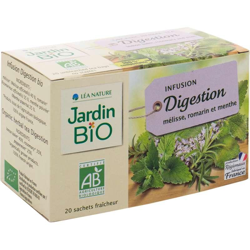 Infusion digestion mélisse, romarin et menthe BIO, Jardin Bio (20 sachets)