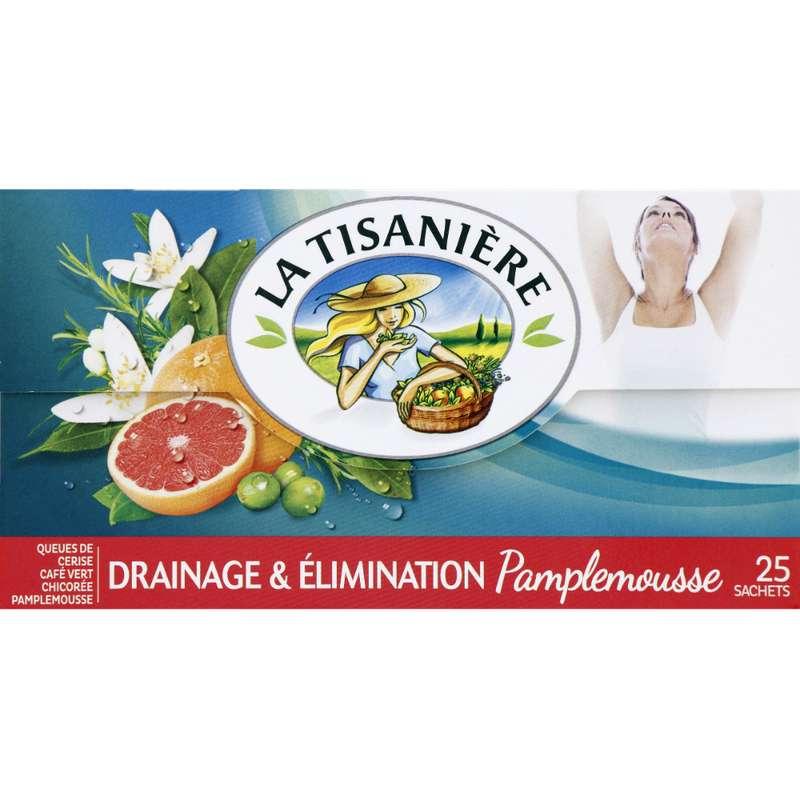 Infusions drainage et élimination pamplemousse, La Tisanière (25 sachets)