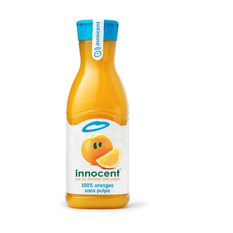 Jus d'orange sans pulpe frais, Innocent (900 ml)