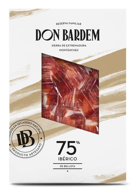 Jambon de Bellota 75% Ibérico tranché à la main, Don Bardem (80 g)