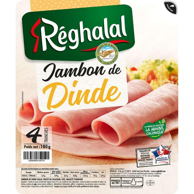 Jambon de dinde Halal, Reghalal (4 tranches, 180 g)