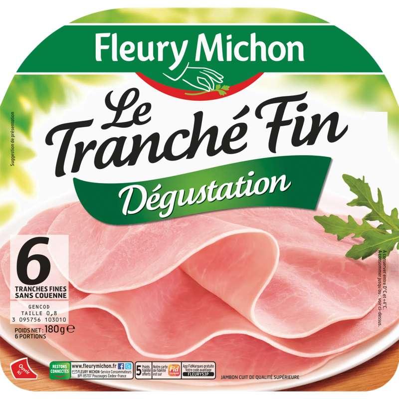 Jambon Le Tranché Fin dégustation, Fleury Michon (6 tranches, 180 g)
