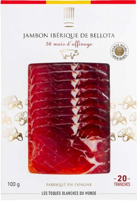 Jambon Ibérique de Bellota, Les Toques Blanches du Monde (20 tranches, 100 g)