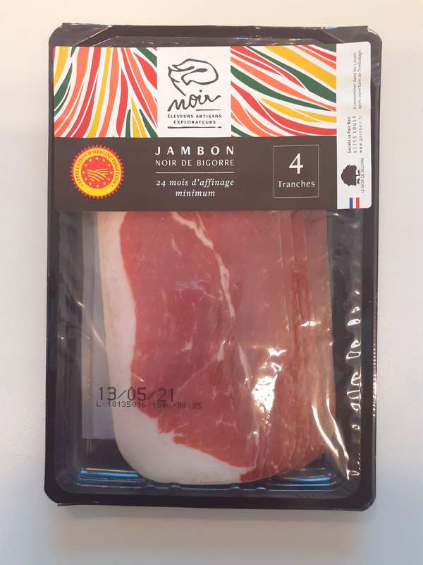 Jambon Noir de Bigorre extra fin AOP, Padouen (4 tranches, 80 g)