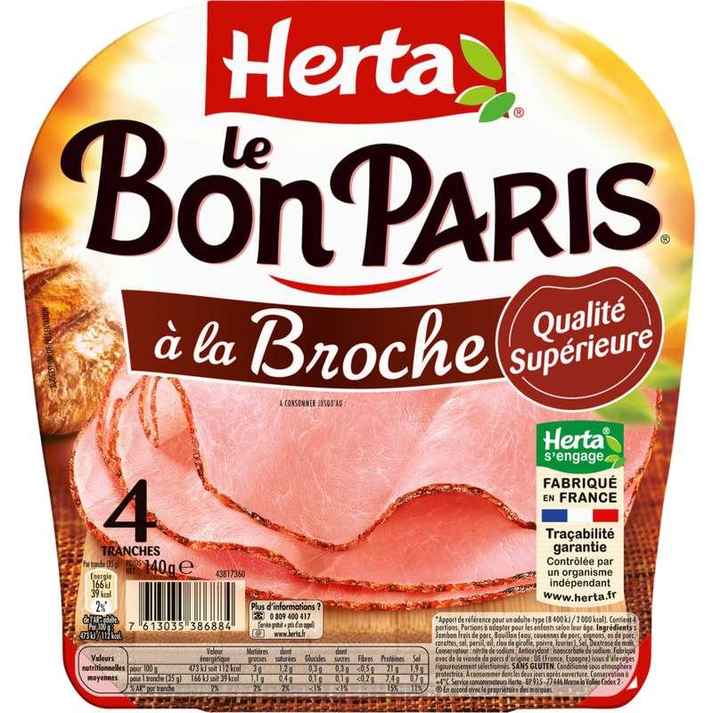 Jambon Le Bon Paris à la broche, Herta (4 tranches, 140 g)