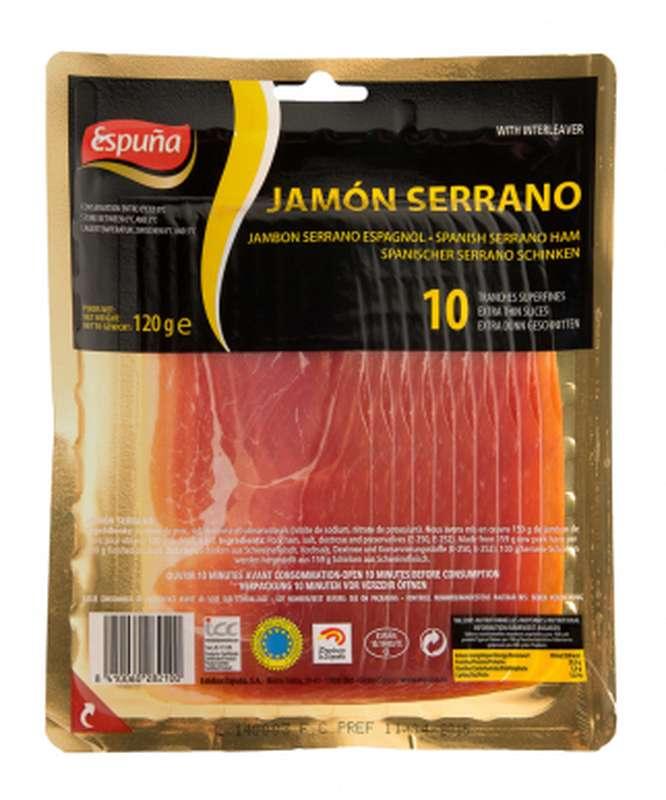 Jambon Serrano tranche fine, Espuña (10 tranches, 120 g)