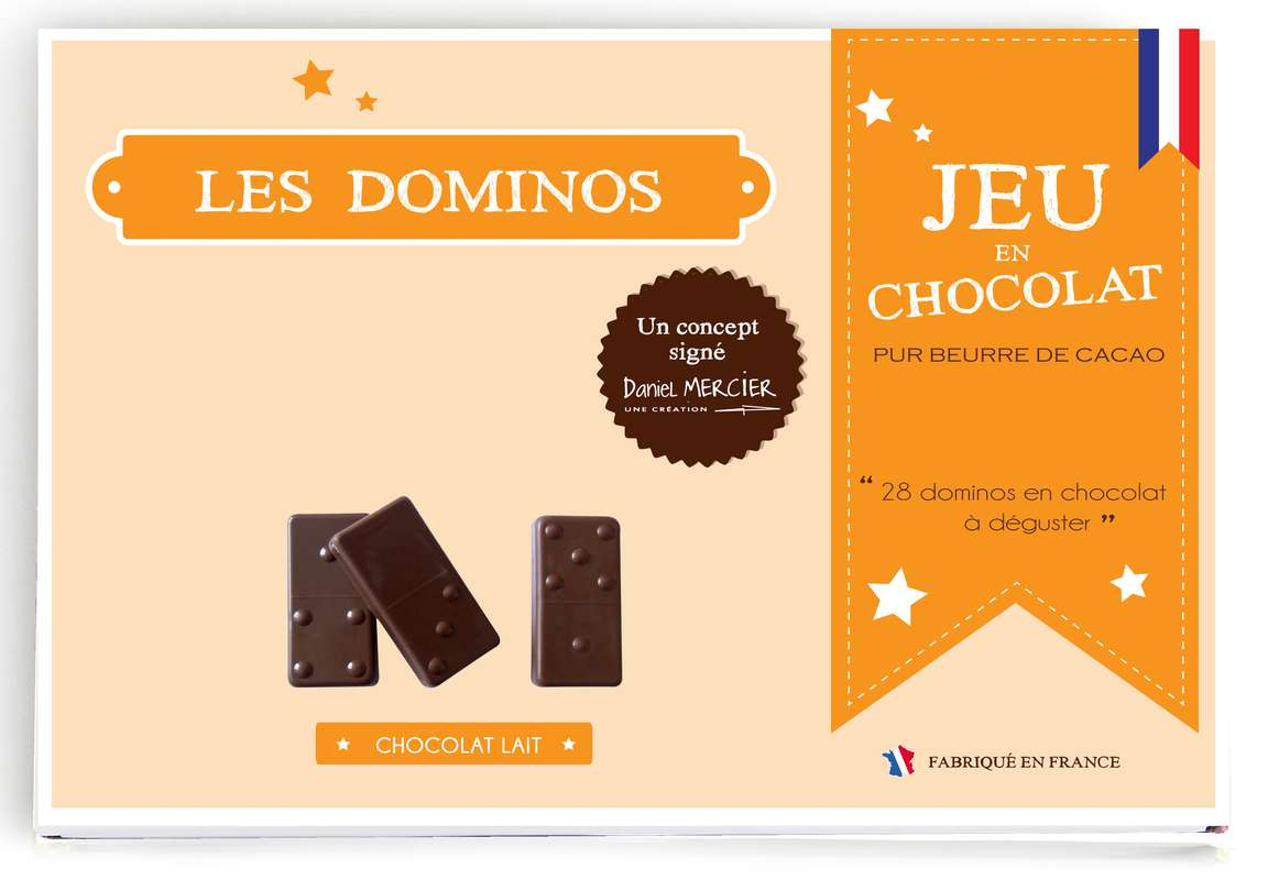 Jeu de Dominos en chocolat, Chocolaterie Mercier (240 g)