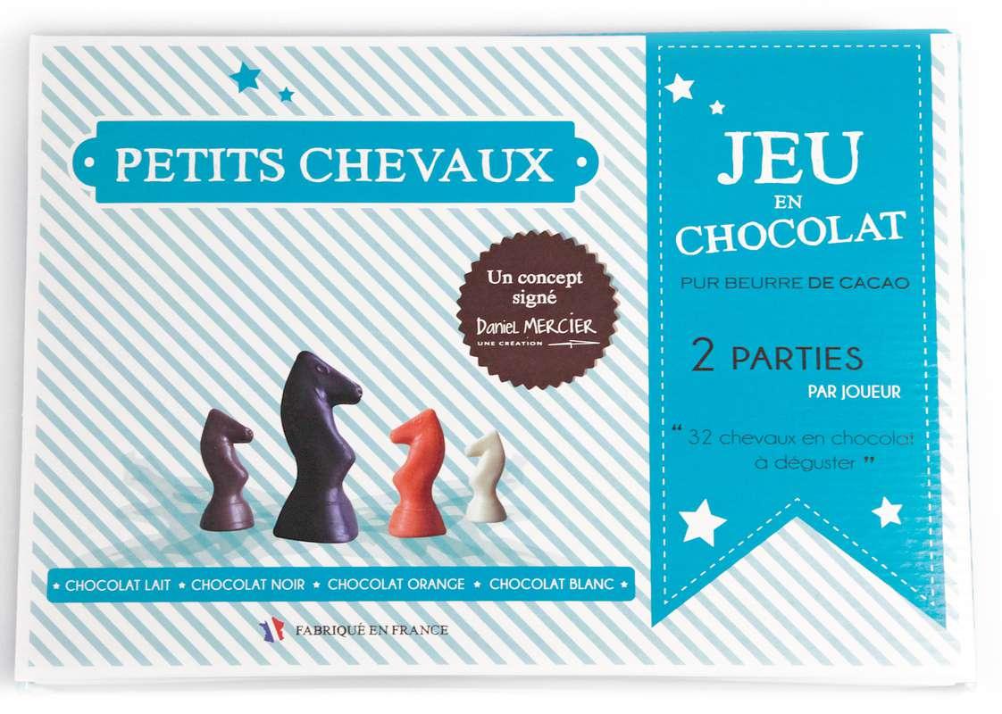 Jeu de Petits Chevaux en chocolat, Chocolaterie Mercier (260 g)