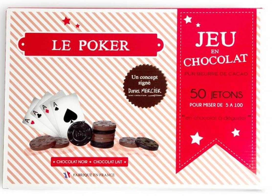 Jeu de Poker en chocolat, Chocolaterie Mercier (250 g)