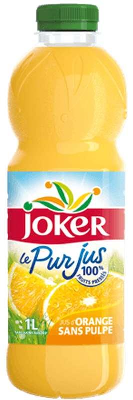 Pur jus d'orange sans pulpe, Joker (1 L)