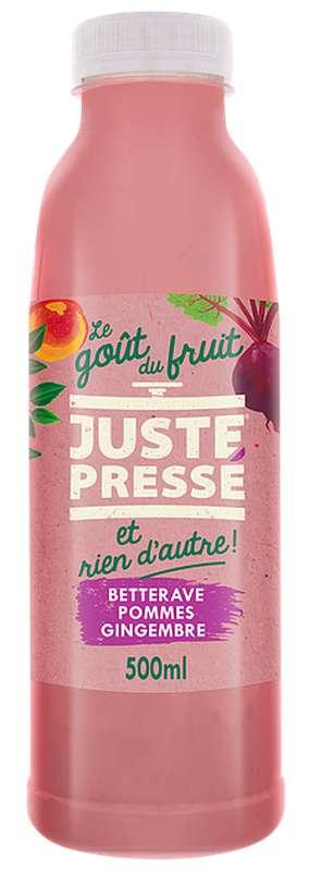 Jus 100 % Légumes et fruits pressés Betterave, Pomme et Gingembrei, Juste Pressé (50 cl)