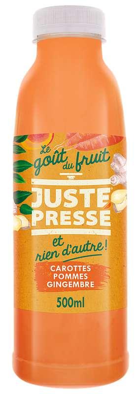 Jus 100 % Légumes et fruits pressés Carotte, Pomme et Gingembre, Juste Pressé (50 cl)