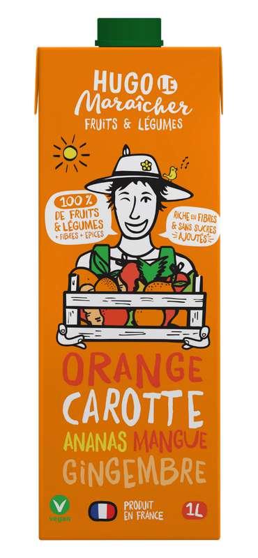 Jus d'Orange, Carotte, Ananas, Mangue et Gingembre, Hugo Le Maraîcher (1L)