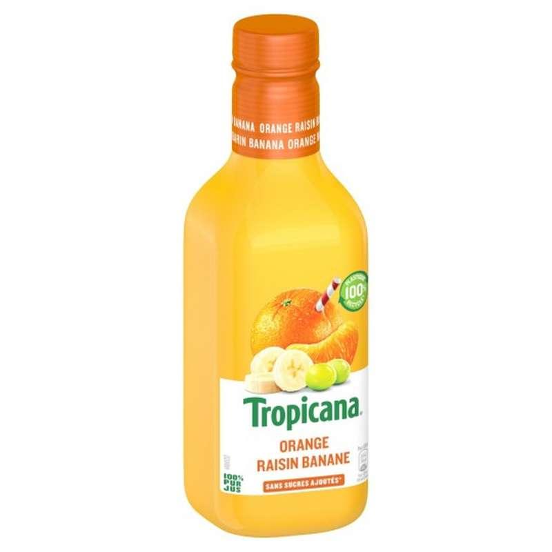 Jus d'orange orange, raisin et banane, Tropicana (90 cl)